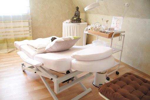 Массажный кабинет оборудован для массажа