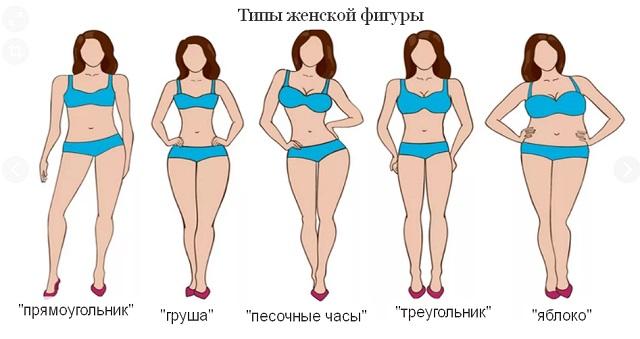 Все о типах женской фигуры